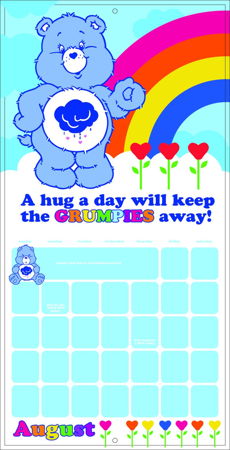 Grumpy calendar concept