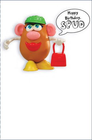 MRS POTATO HEAD CARD FACE
